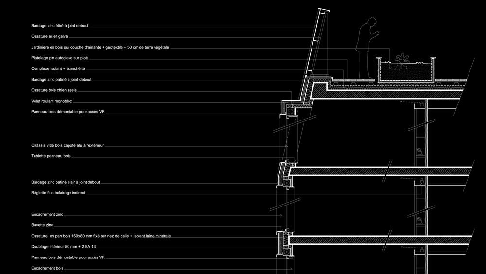 détail façade partie haute