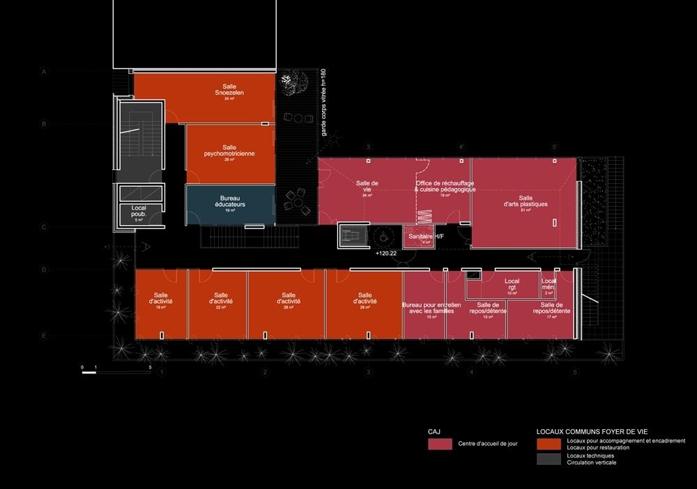plan 1er étage - activités accueil de jour