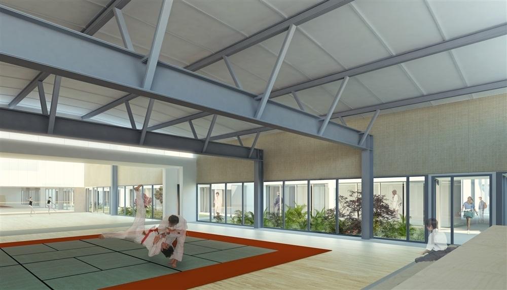 salle d'arts martiaux