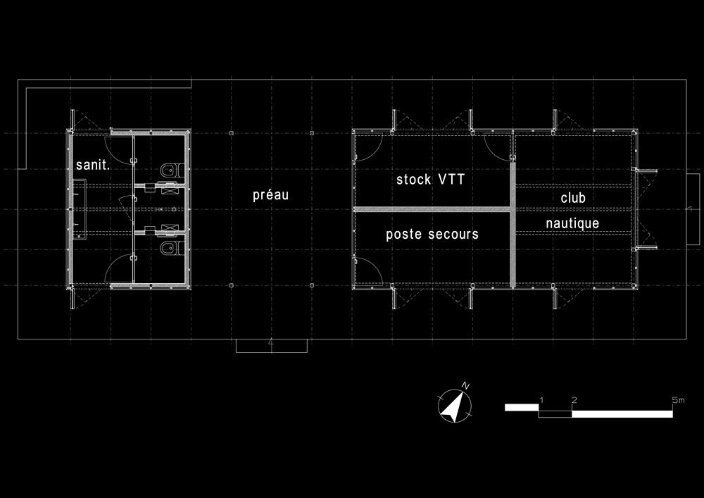 plan bâtiment de loisirs