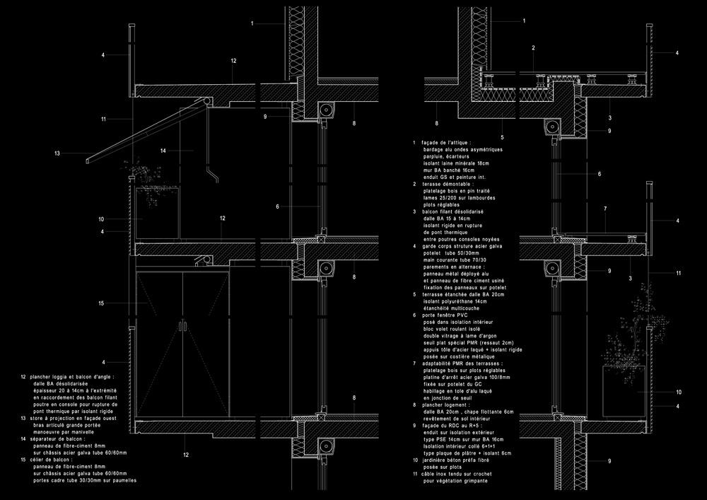 détail constructif des façades