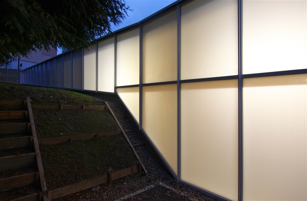 façade policarbonate rempli de nanogel